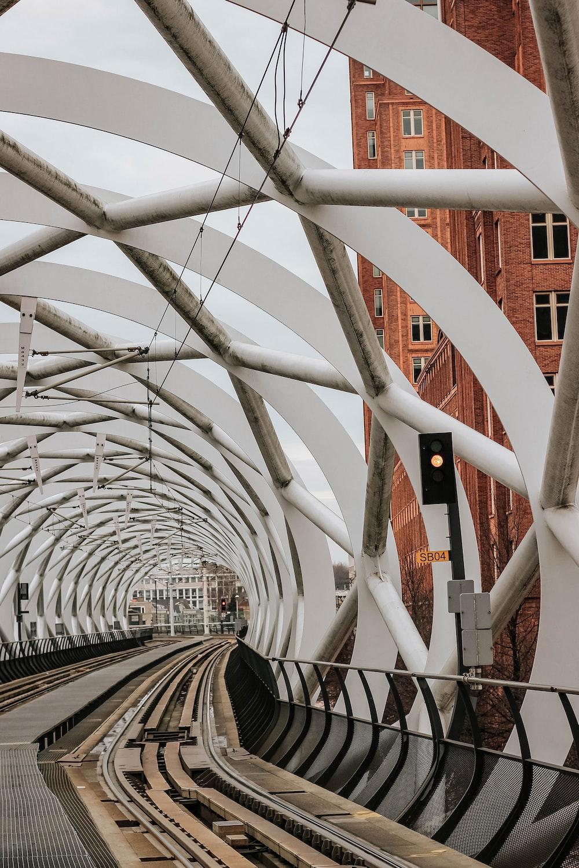 empty railway near apartment