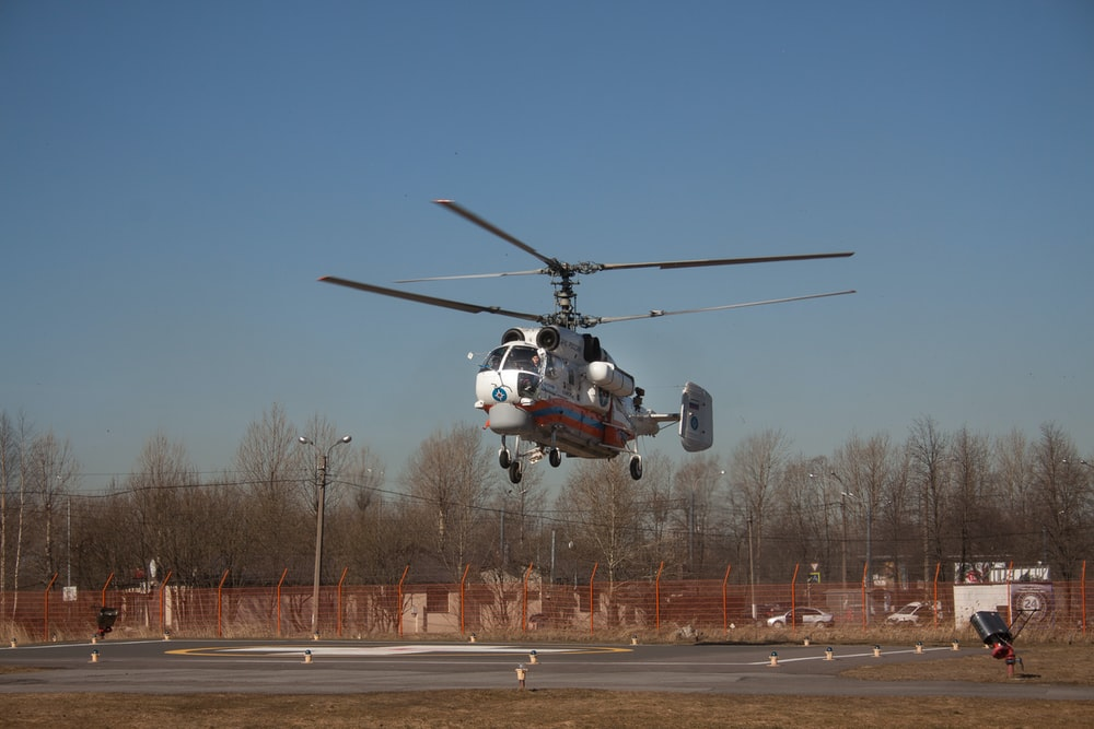 grey helicopter during daytime