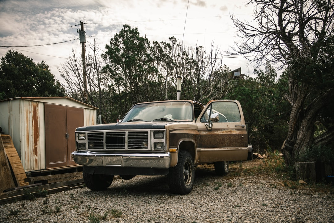Brown Vehicle Parked Beside Tree - unsplash