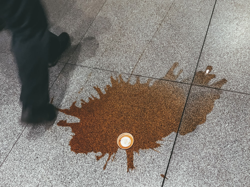 coffee spill on floor