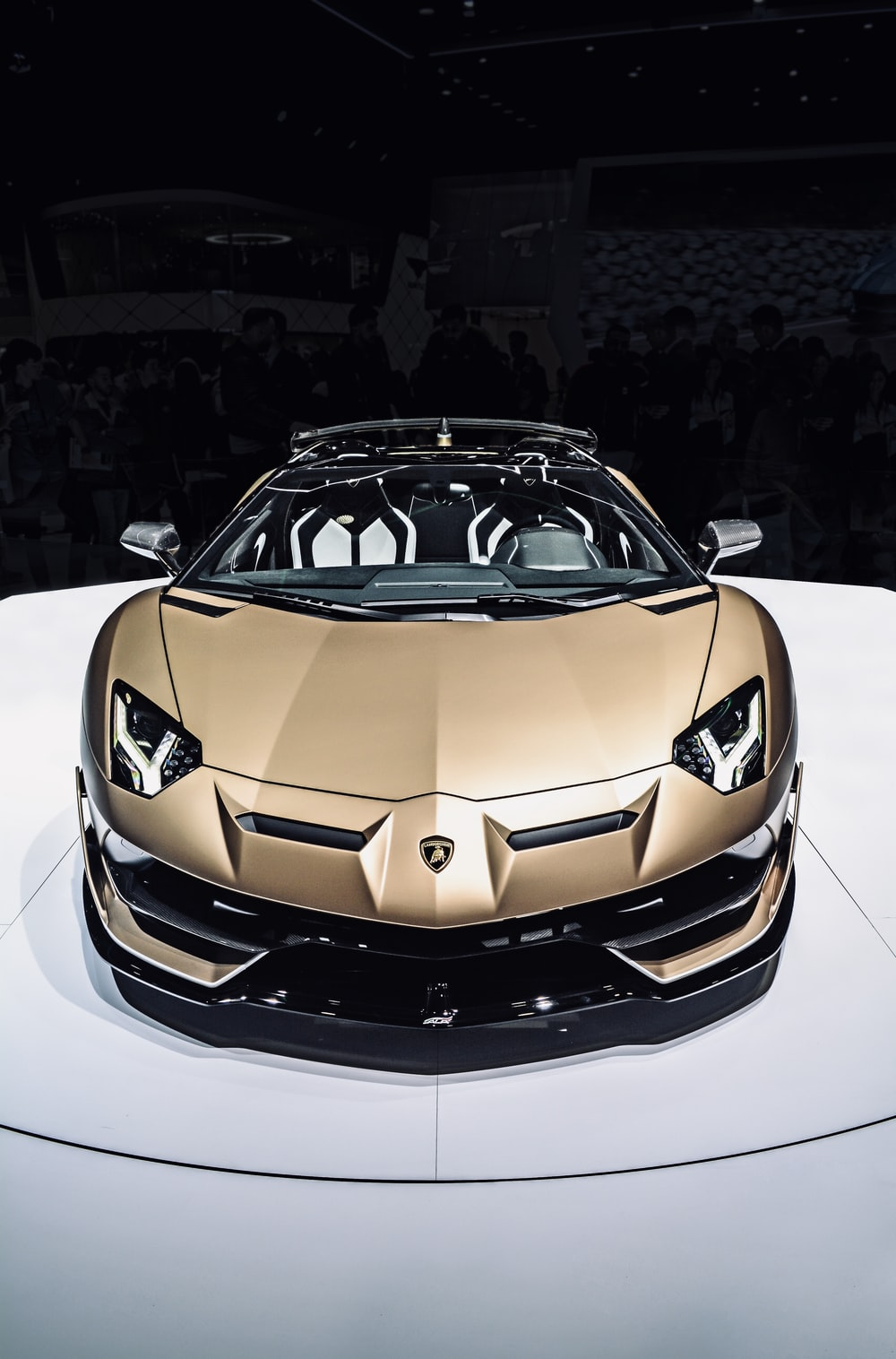 brown Lamborghini sports car