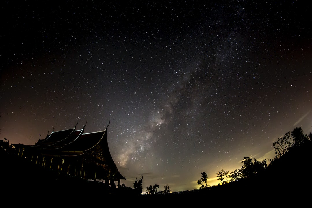 Milky Way At Temple. - unsplash