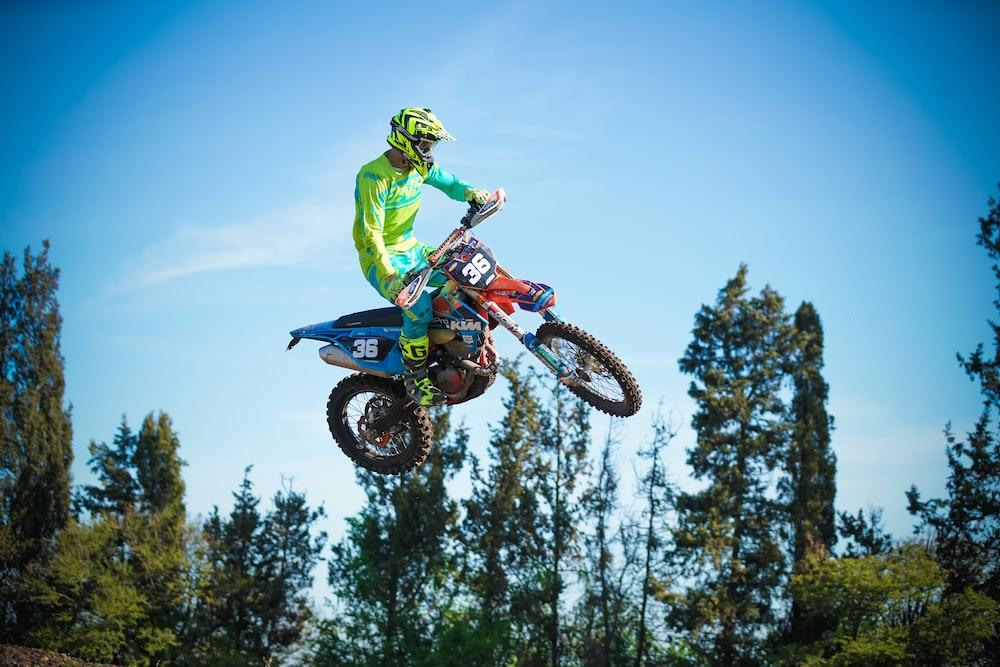 man doing motocross dirt bike trick