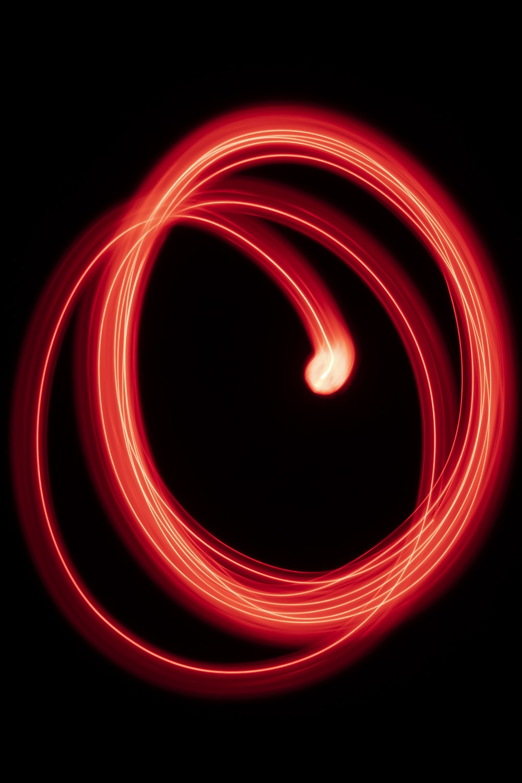 circle form red LED lights