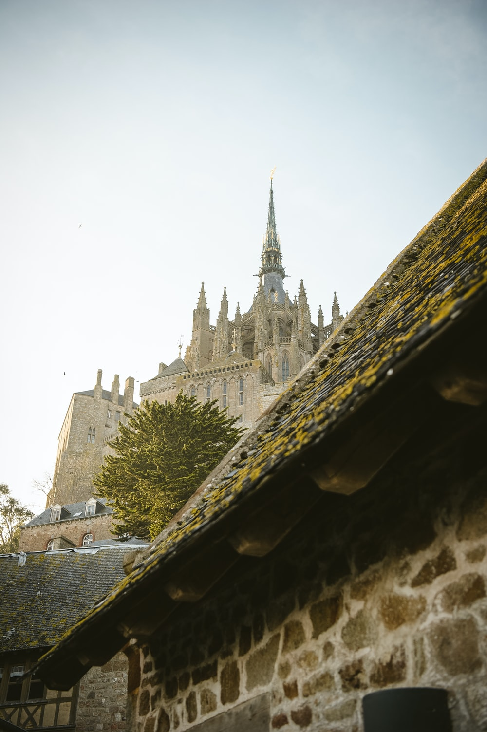 architectural photography of brown Mont-Saint-Michel during daytime