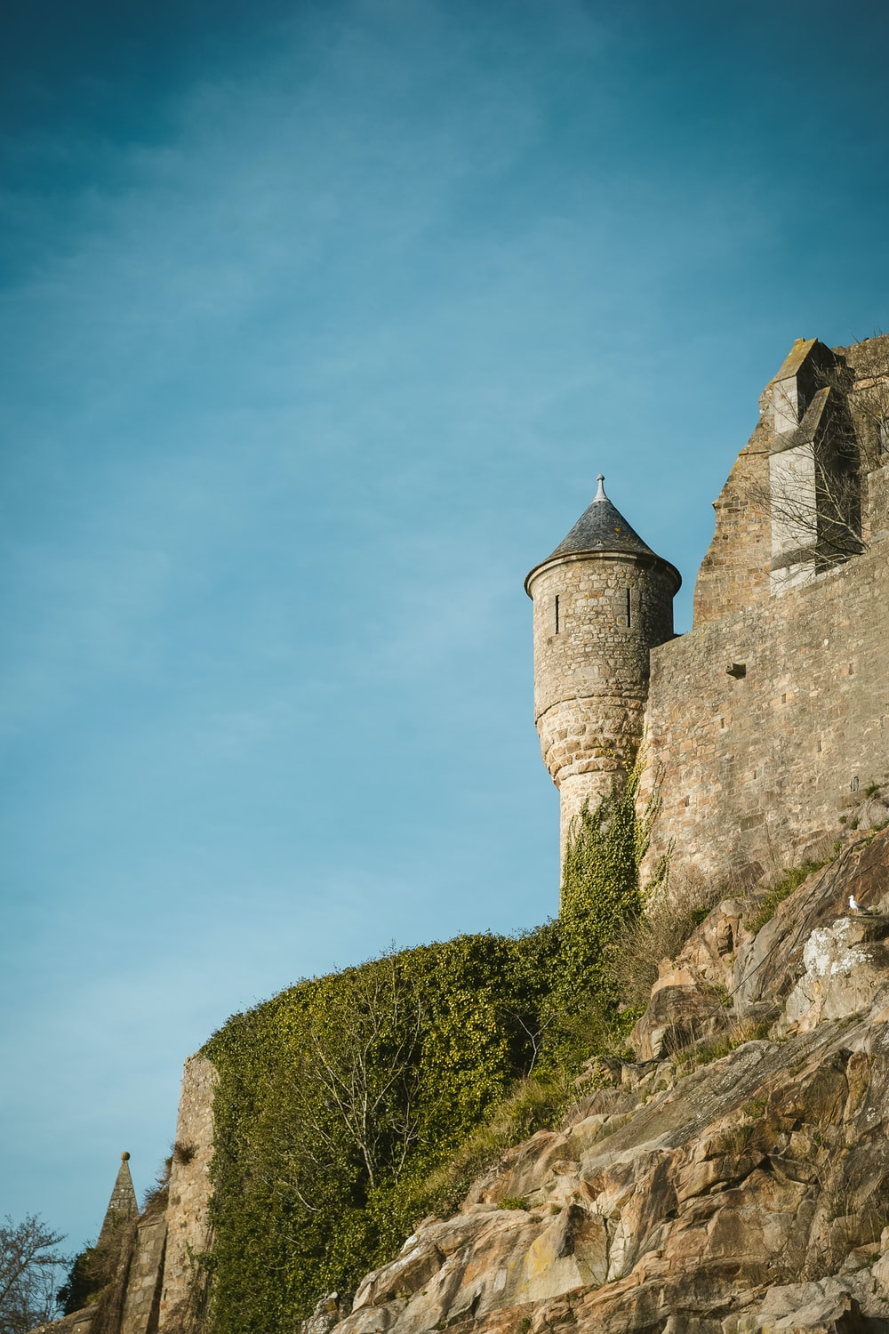 gray castle under blue and white sky