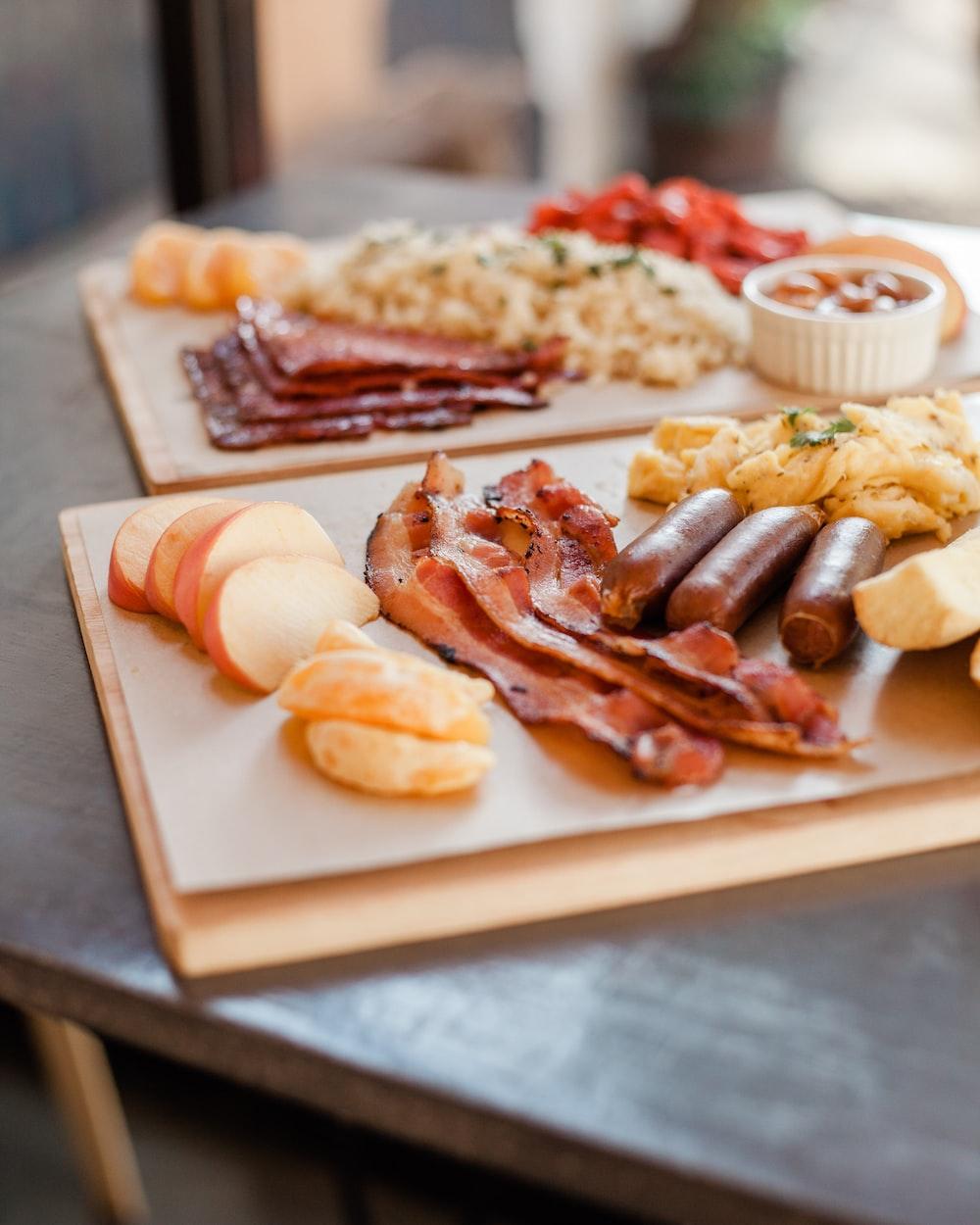 slabs of foods