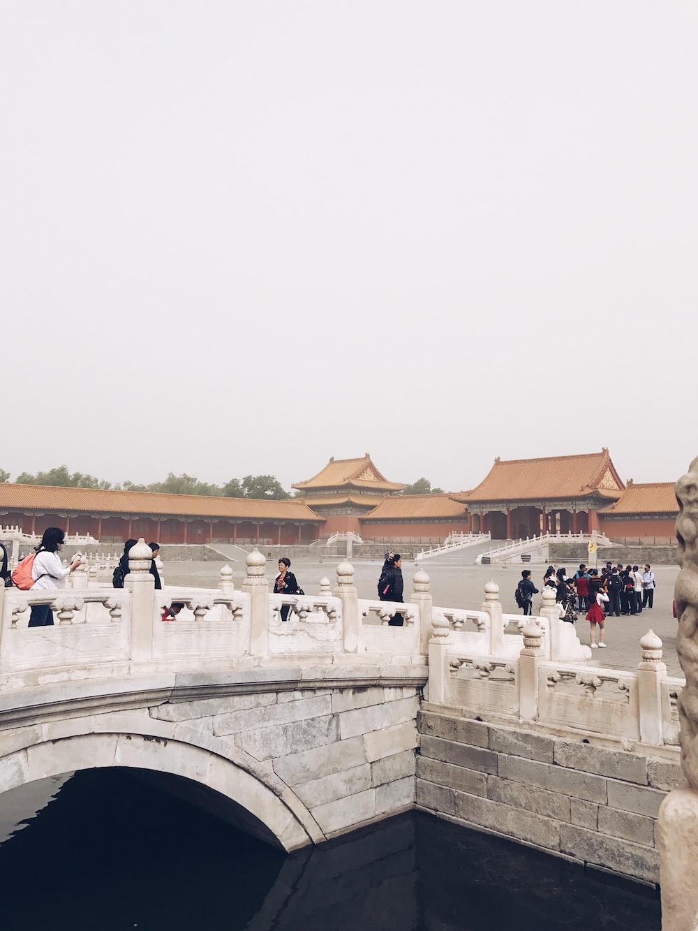 people walking near Forbidden City in Beijing China during daytime