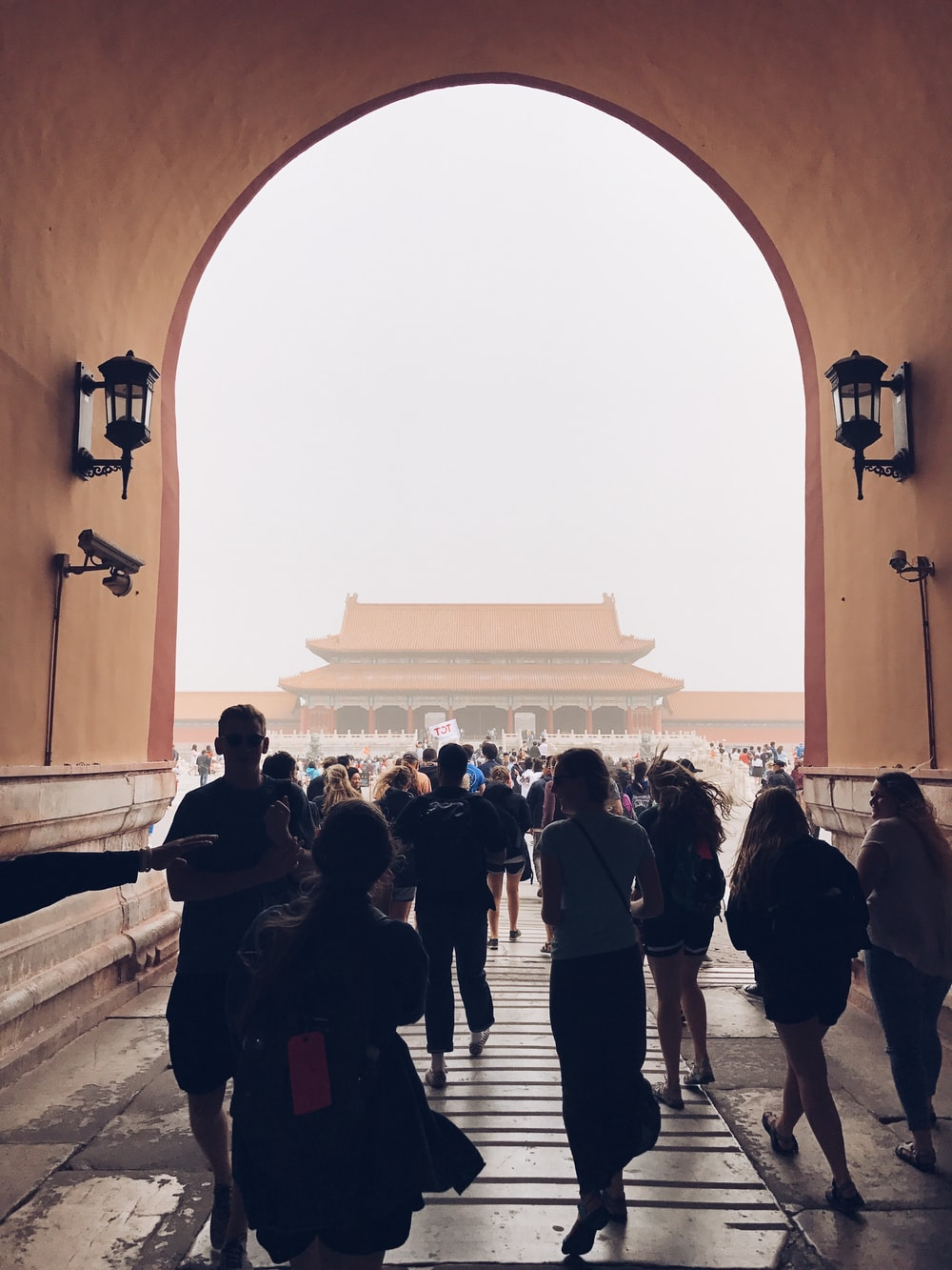 people walking near temple during daytime