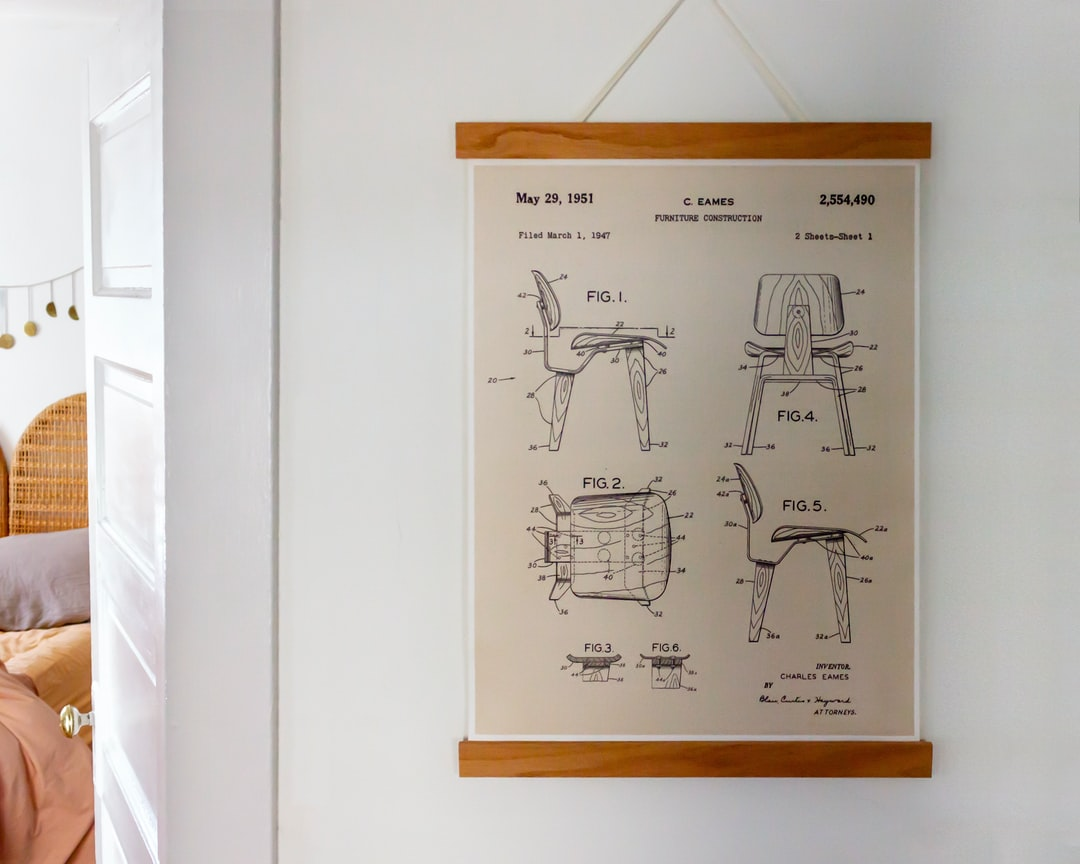 Eames Chair Diagram Schematics - 1951 Chair Poster Hanging on Wall