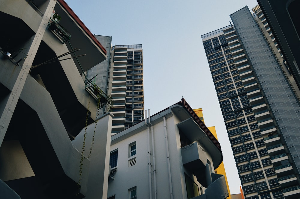 architectural photography of high-rise buildings during daytime