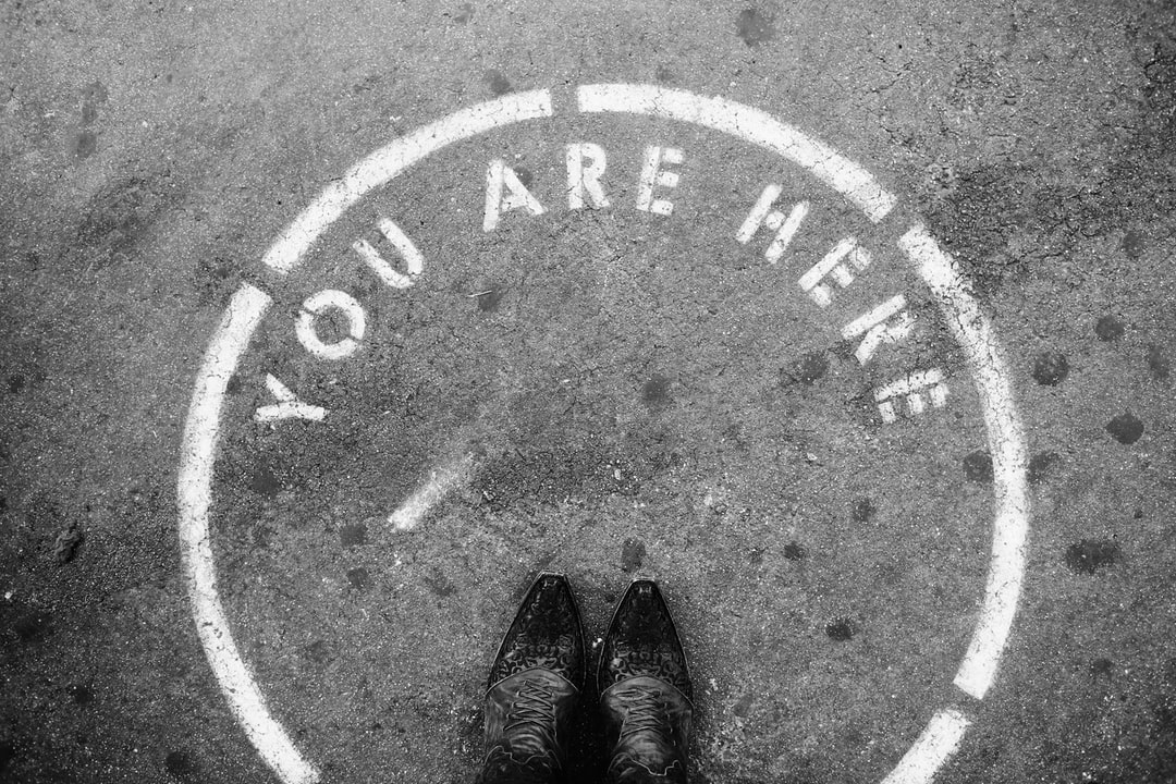 You Are Here With Boots Black and White - unsplash