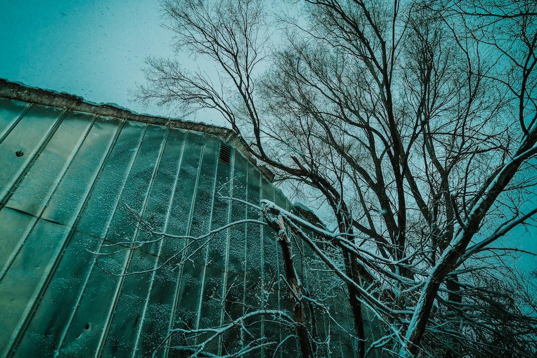 Metal Barn in a Winter Storm