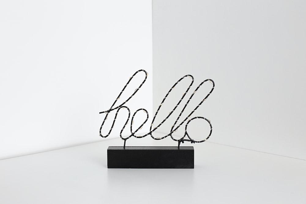 hello signage