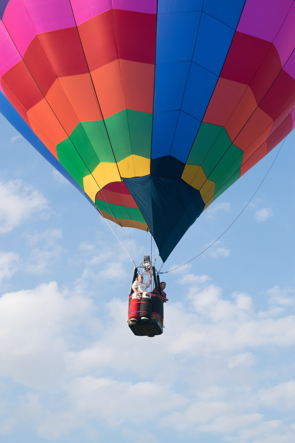 multicolored hot air balloon on air during daytime