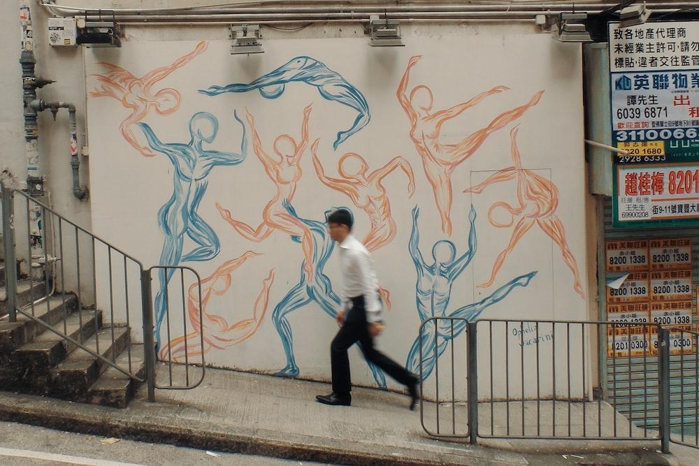 human figure mural