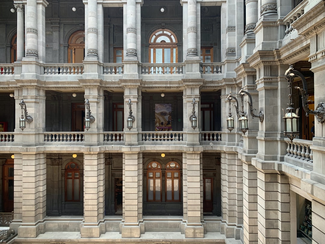 """architecture: neoclassical Italian. Architect Silvio Contri. Deco by Coppedé family of Florence. """"Palace"""" Secretariat of Communications & Public Works. Early 20th C. 1979 it became MUNAL (Museo Nacional de Arte), Mexico City."""