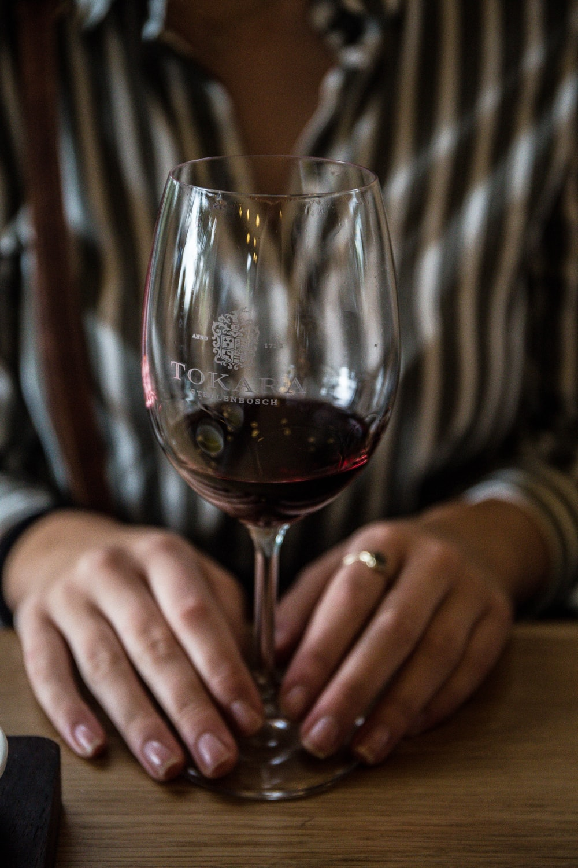 wine glass with liquor