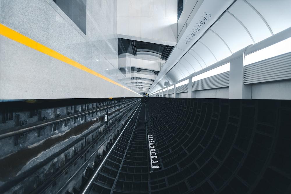 white and black subway