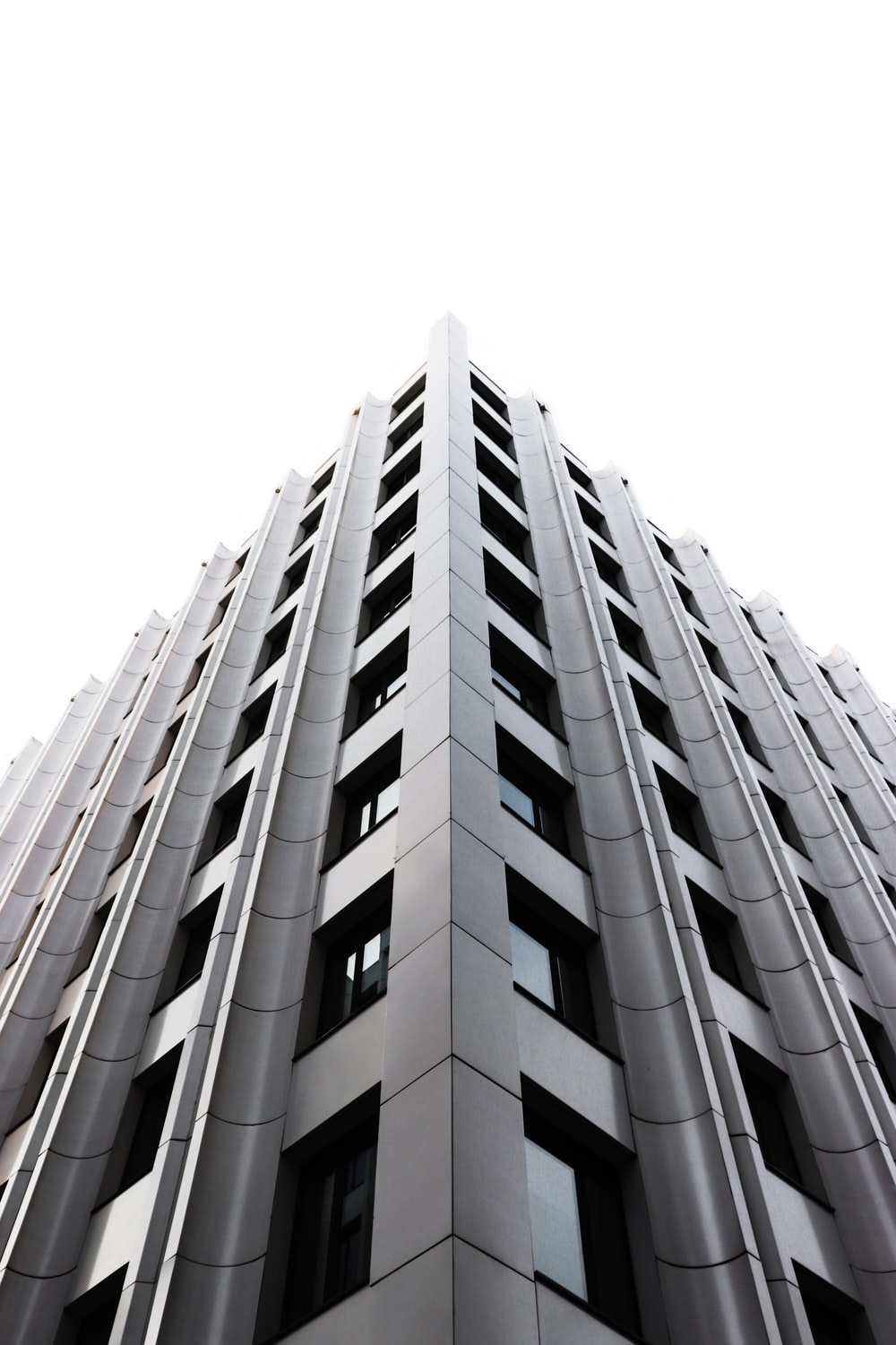 low-angle photograph of building