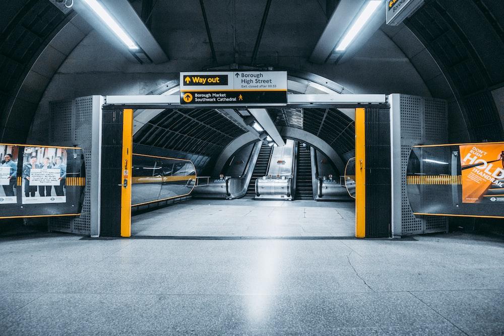 escalators on subway