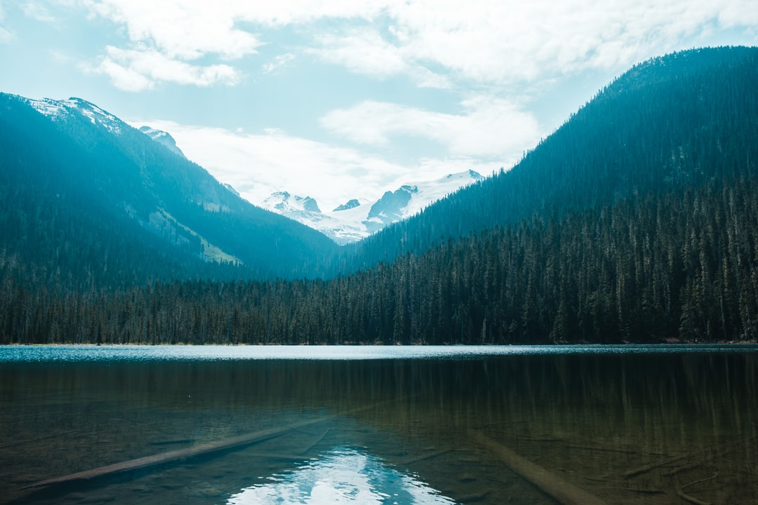 The Snowy Peaked Mountains of British Columbia With Lake In Foreground. - unsplash
