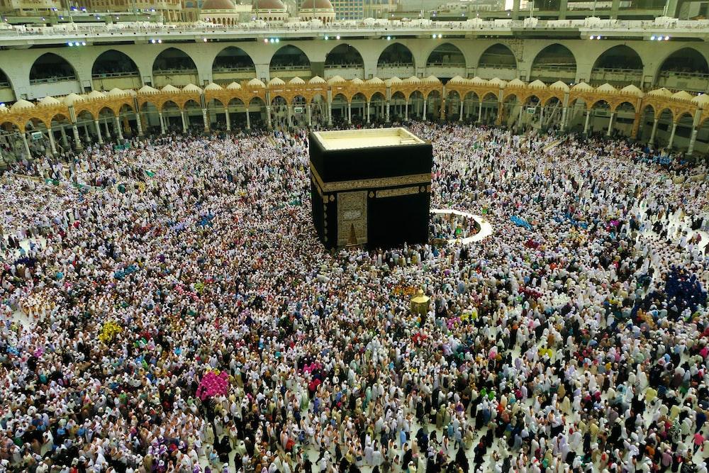 people at Kaaba Mecca, Saudi Arabia during day