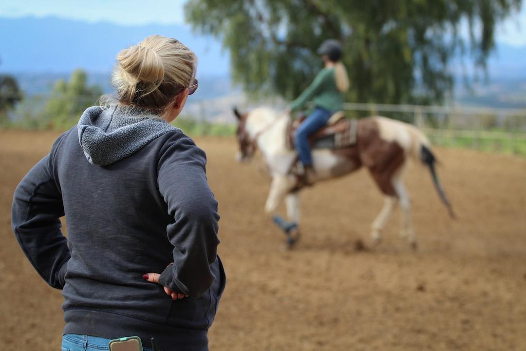 Sara teaching a horseback riding (gymkhana) lesson at Sundance Hills Equestrian.