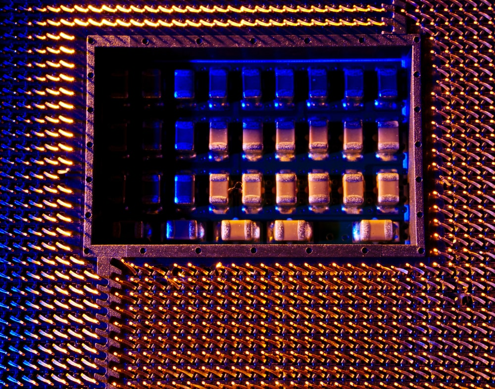 rectangular purple and brown steel case