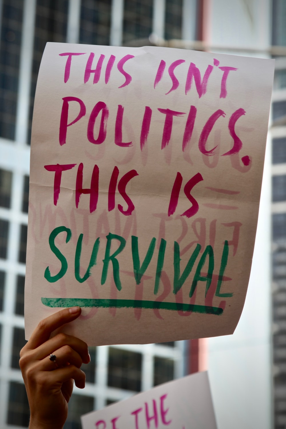 this isn't politics this is survival