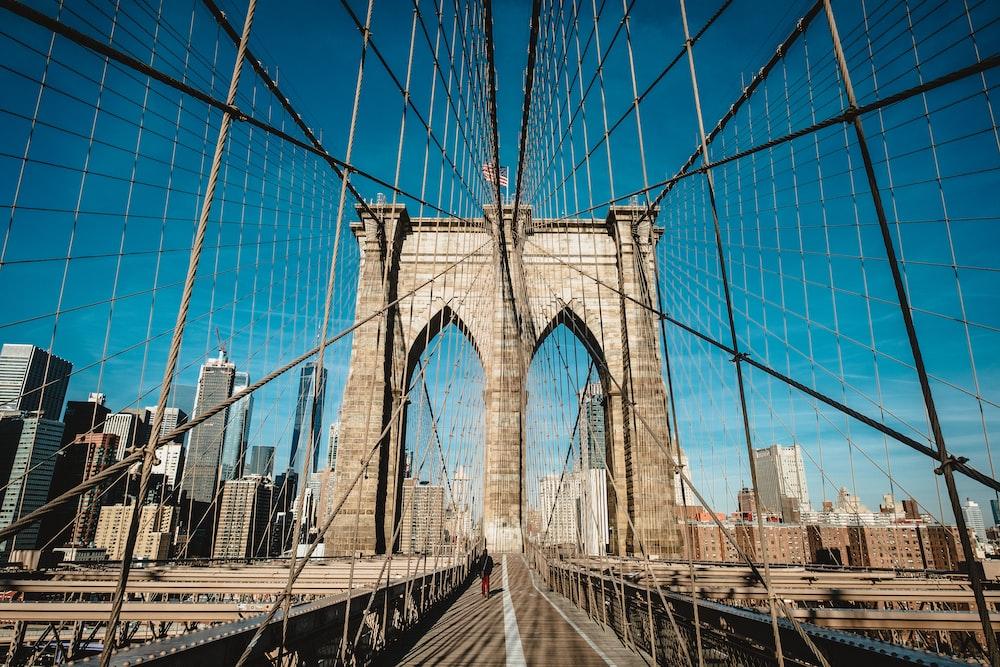 Brooklyn Bridge, New York during day
