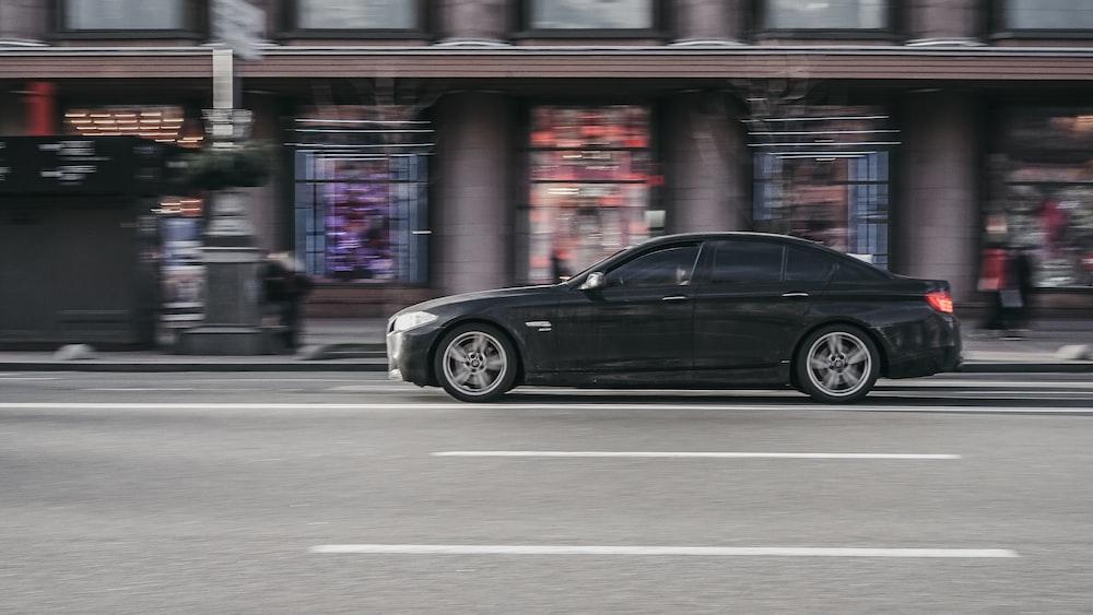 black sedan photograph