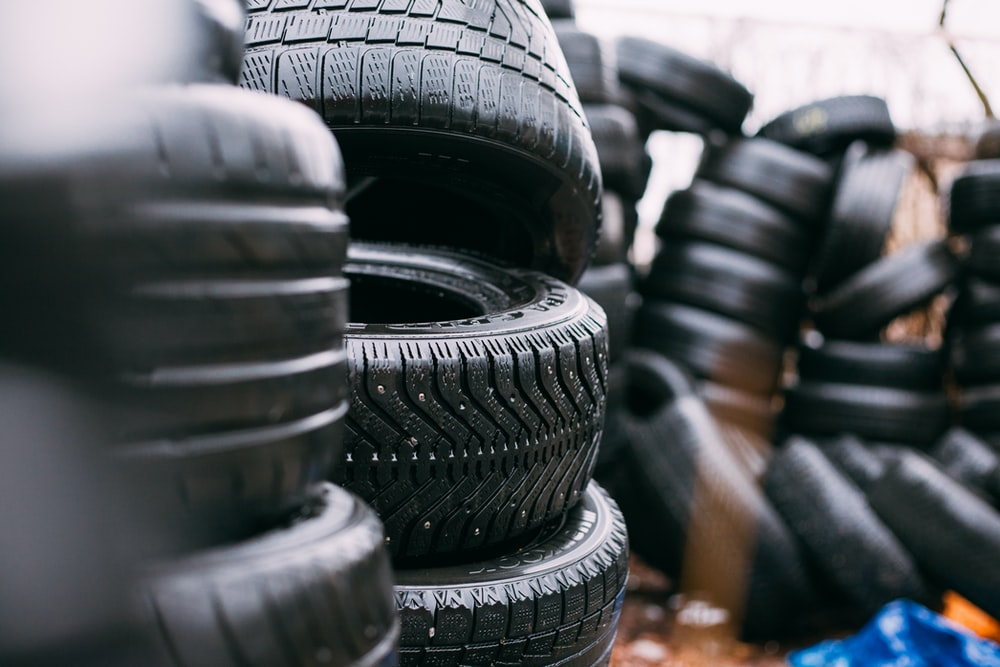 piles of car tires