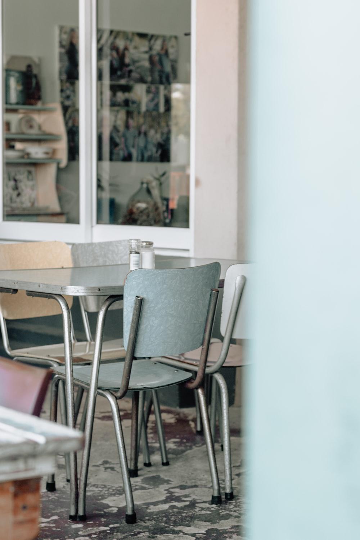 grey dining chair