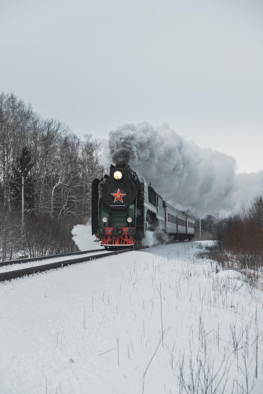 grey train photograph