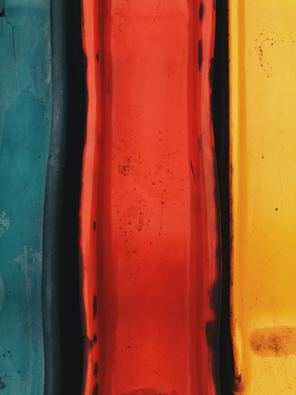 red yellow and blue paint