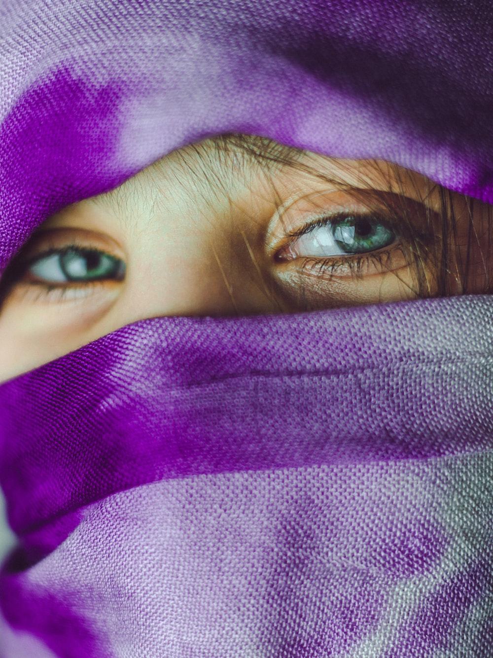 person wearing niqab