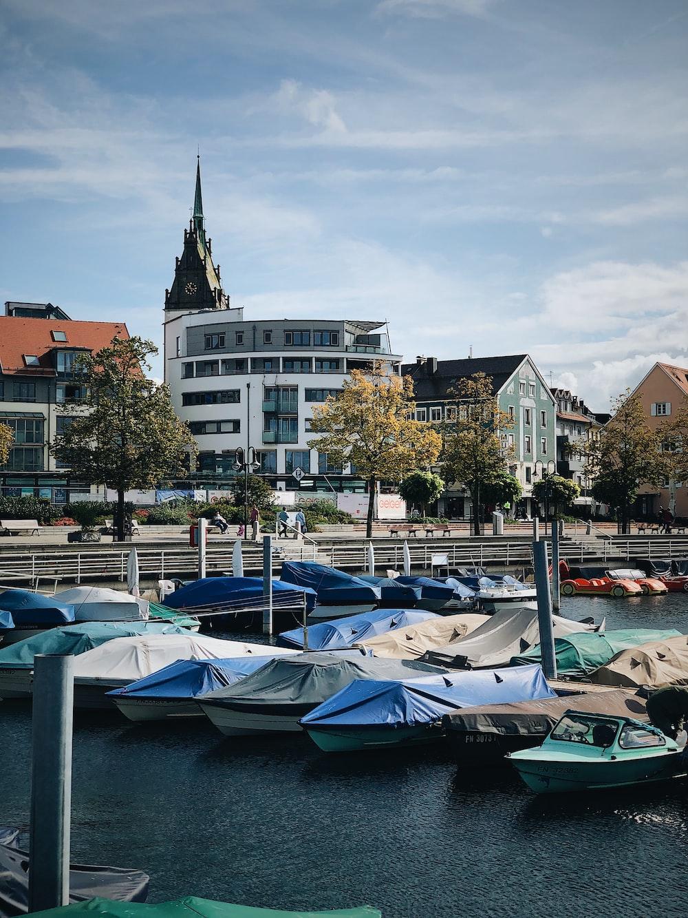 motorboats in pier