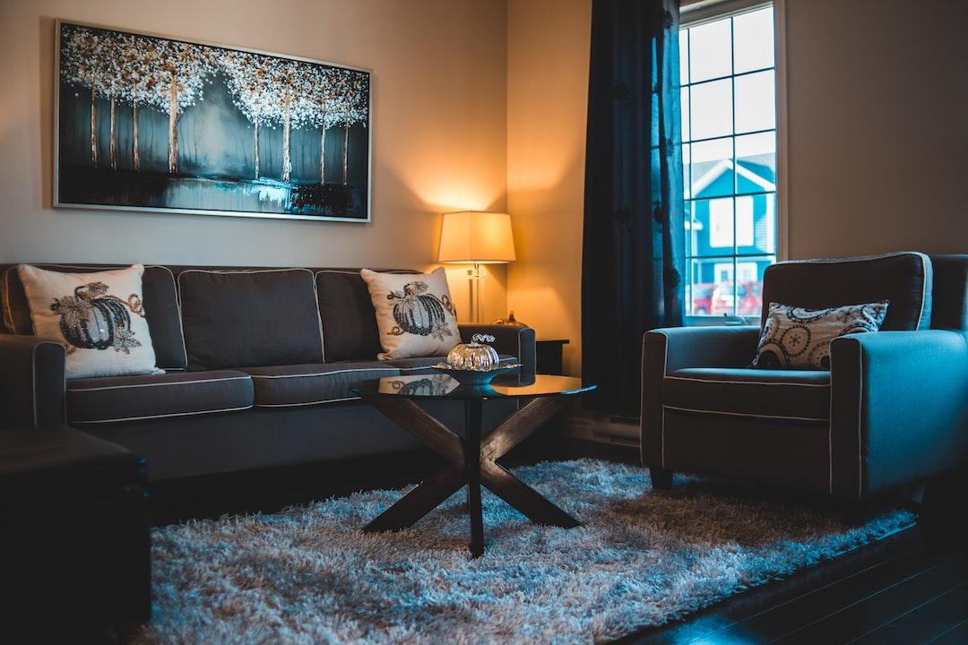 Black Sofa Set - unsplash