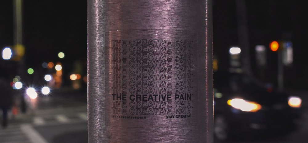The Creative Pain wine bottle