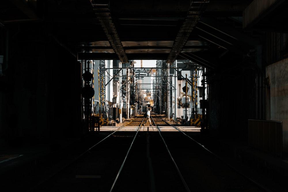 train rail tunnel