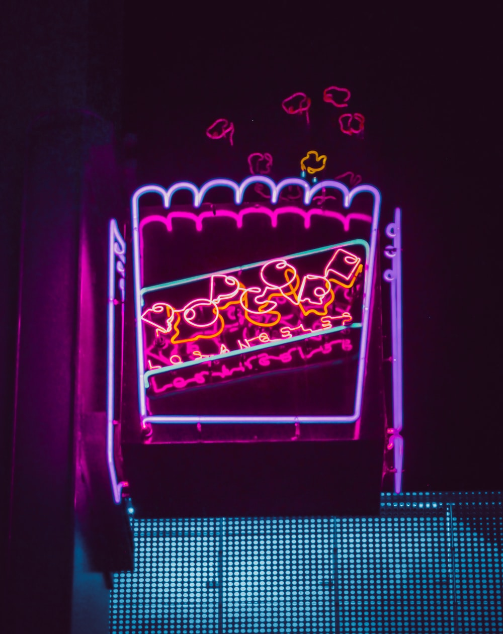 neon signage at night