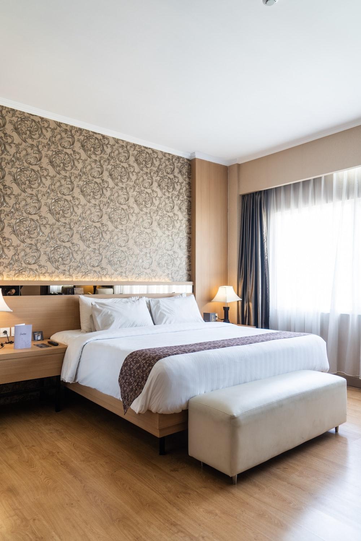 bed beside window