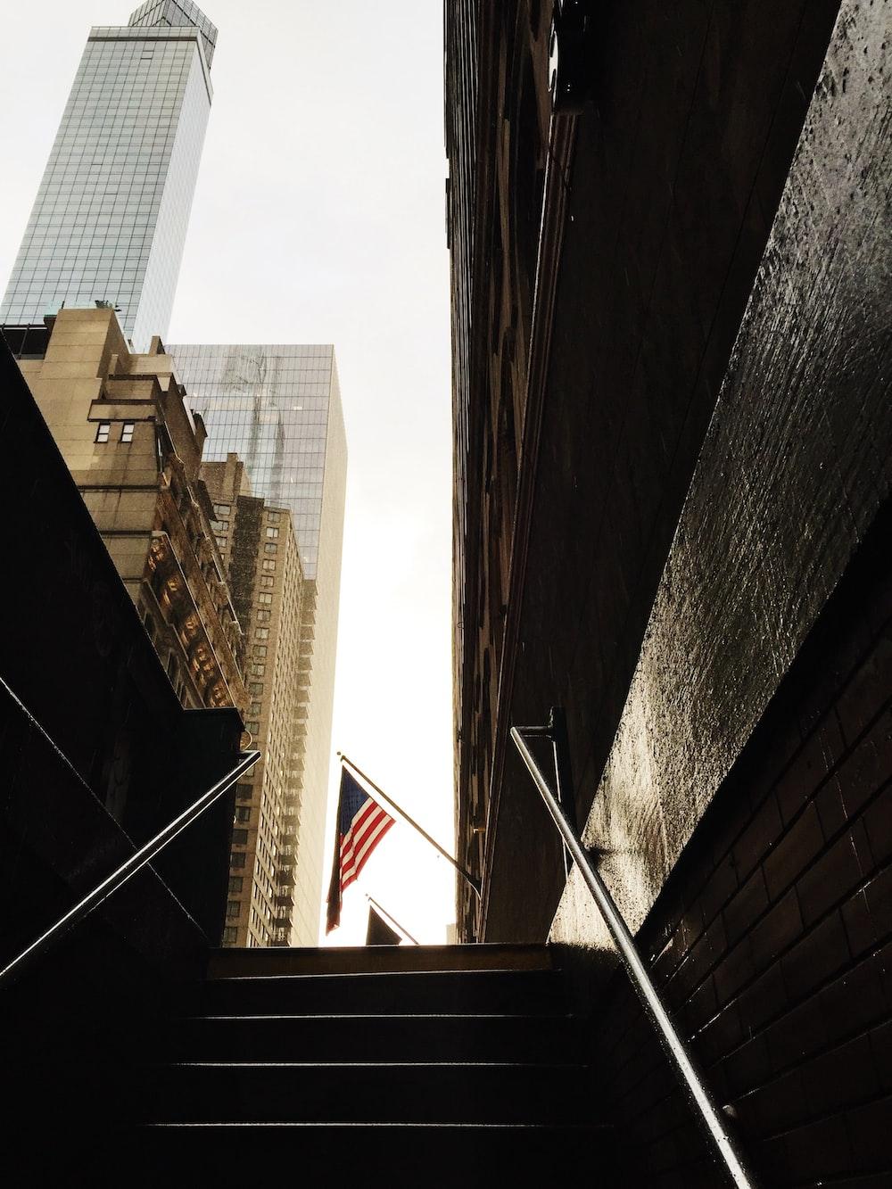 brown high-rise buildings
