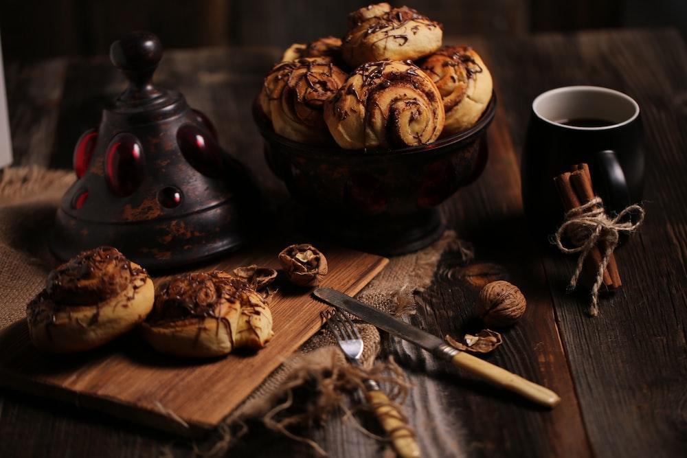 flatlay photo of pastry