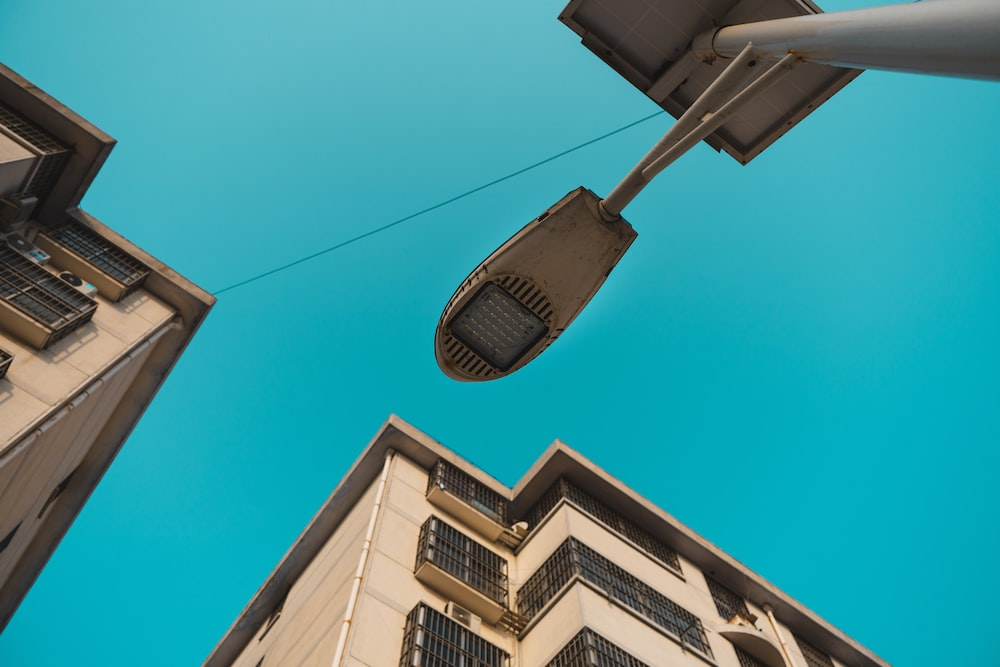low-angle photography of lamp post during daytime