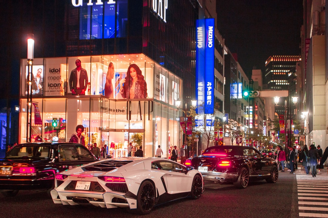 Expensive cars in Ginza, Tokyo