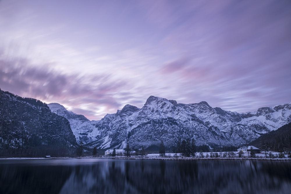 lake near hills
