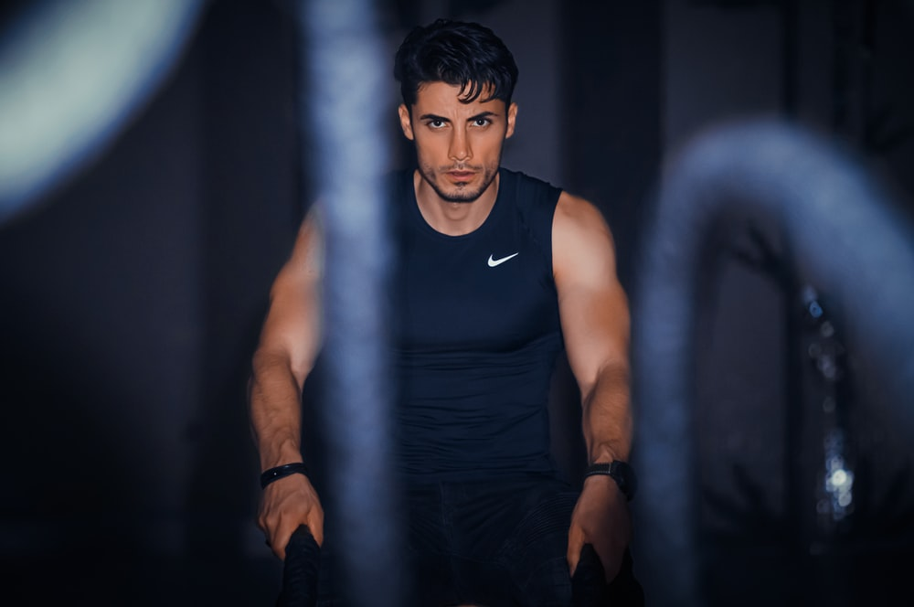 exercising man