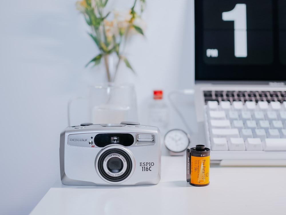 grey digital camera